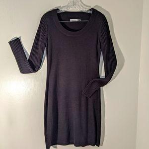 Calvin Klein sweater dress C01W1BCZ black sz small